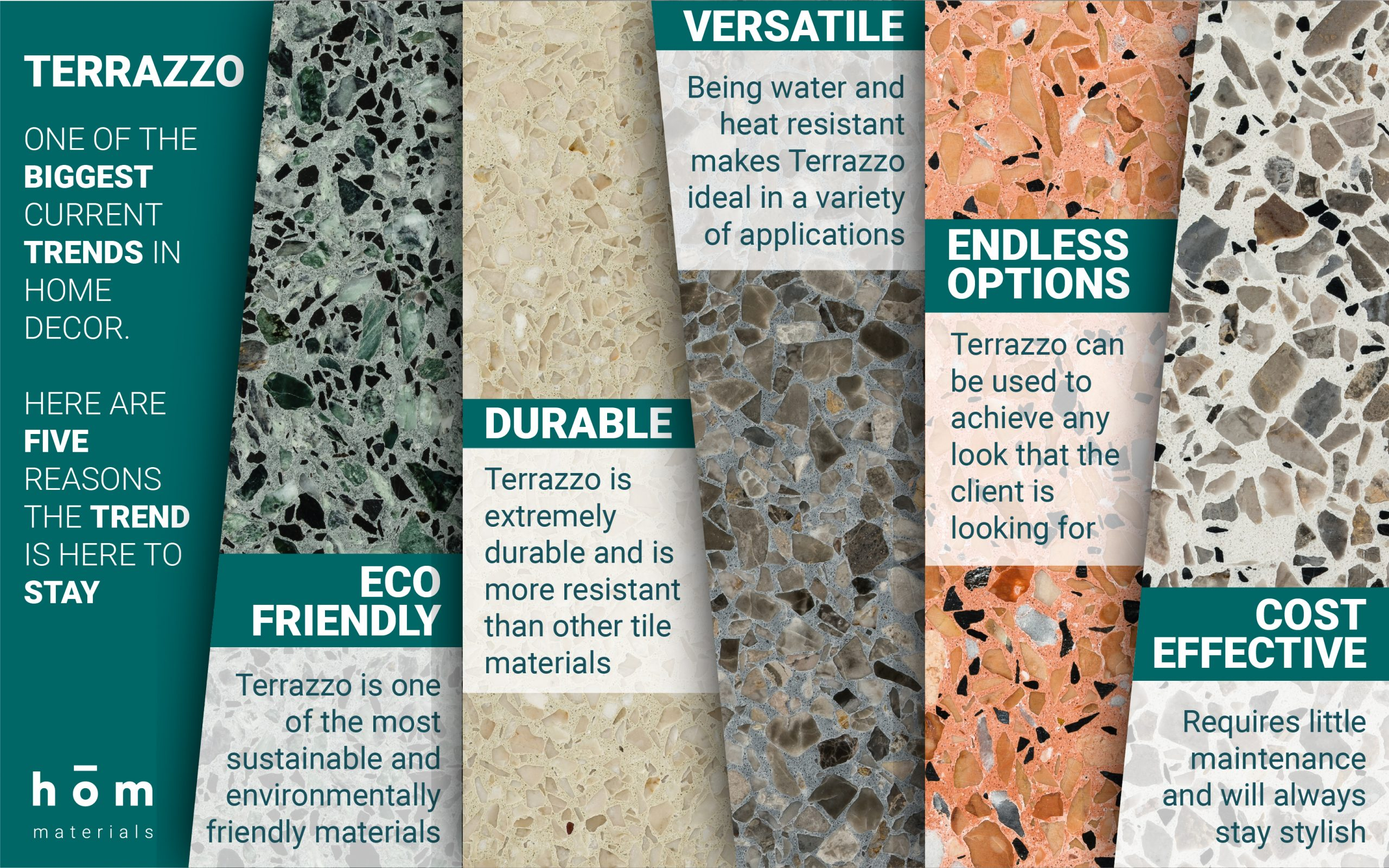 5 reasons the terrazzo trend is here to stay!