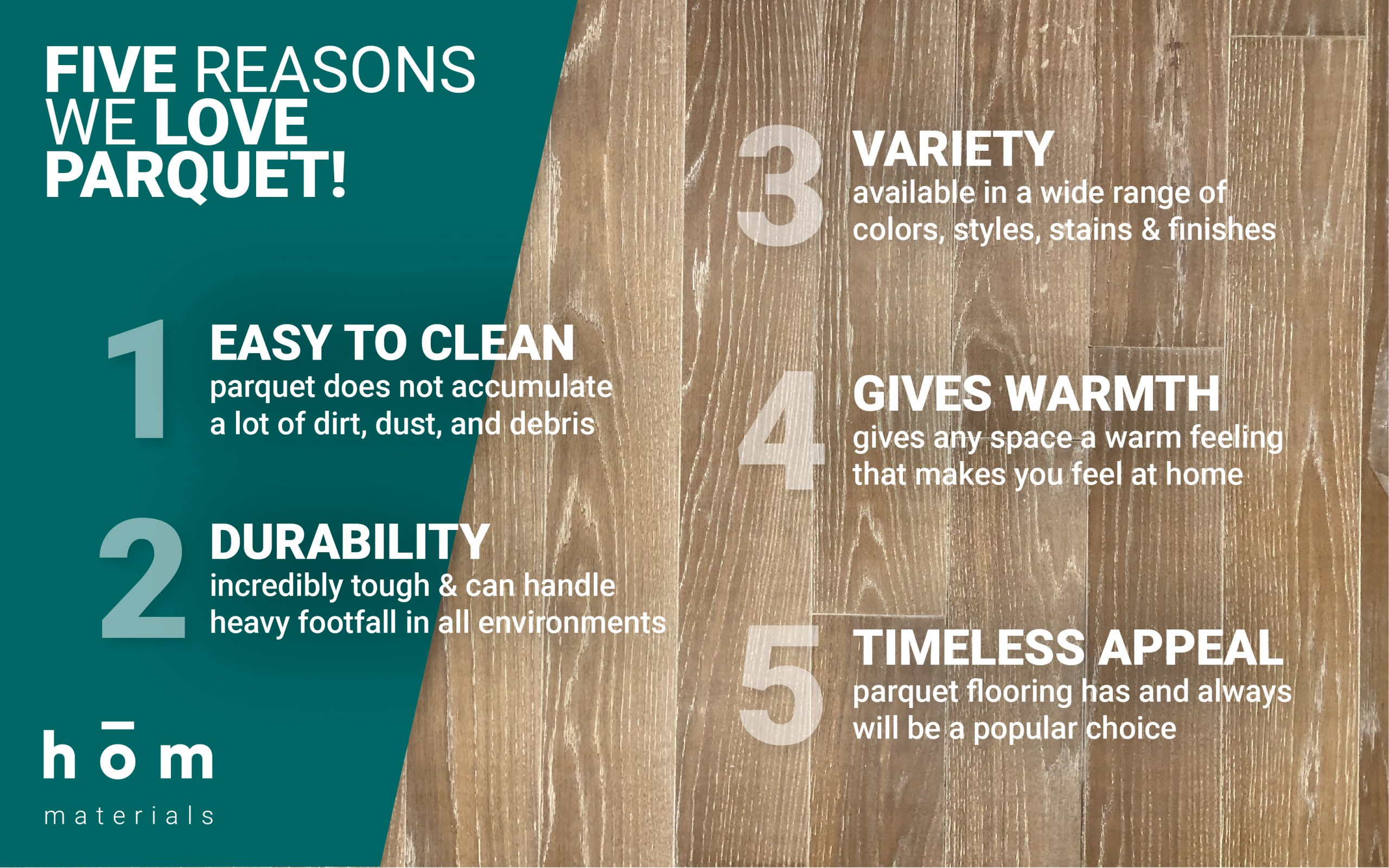 Five Reasons We Love Parquet