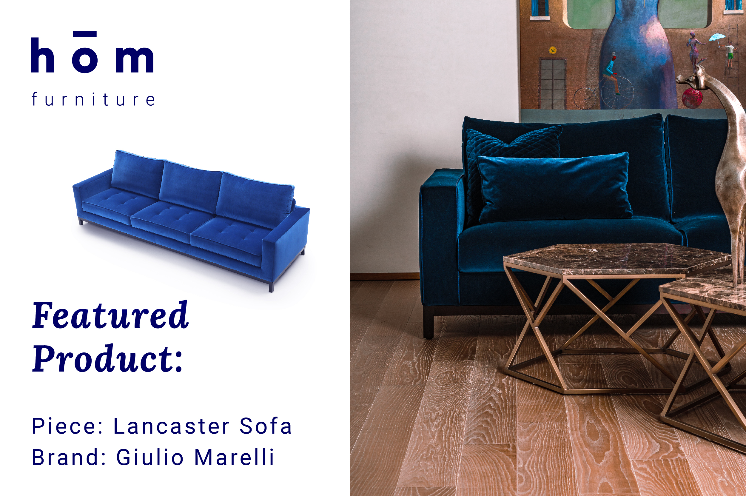 Lancaster Sofa by Giulio Marelli at hom interiors Kuwait - homkw