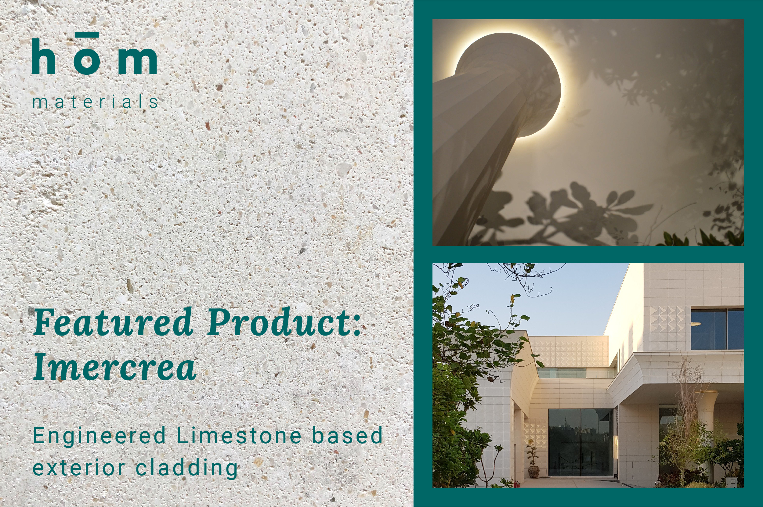 Imercrea Stone Cladding featured at hōm interiors Kuwait - available by order