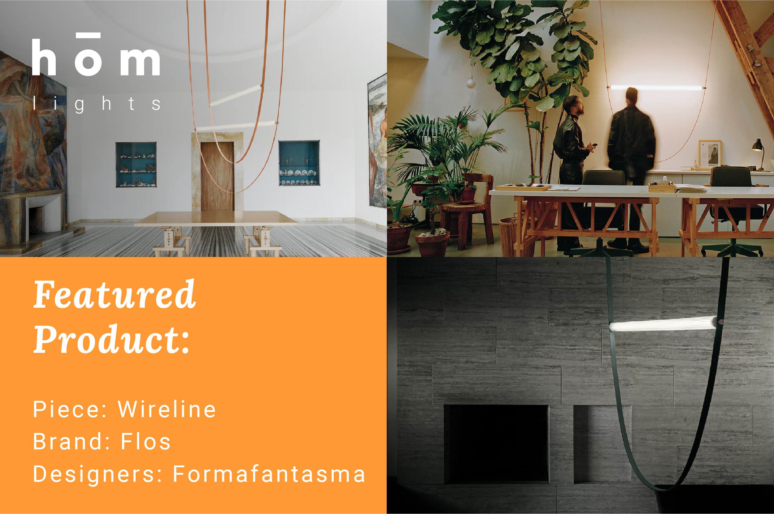 Wireline featured product by flos available by order at hōm interiors Kuwait - www.homkw.com