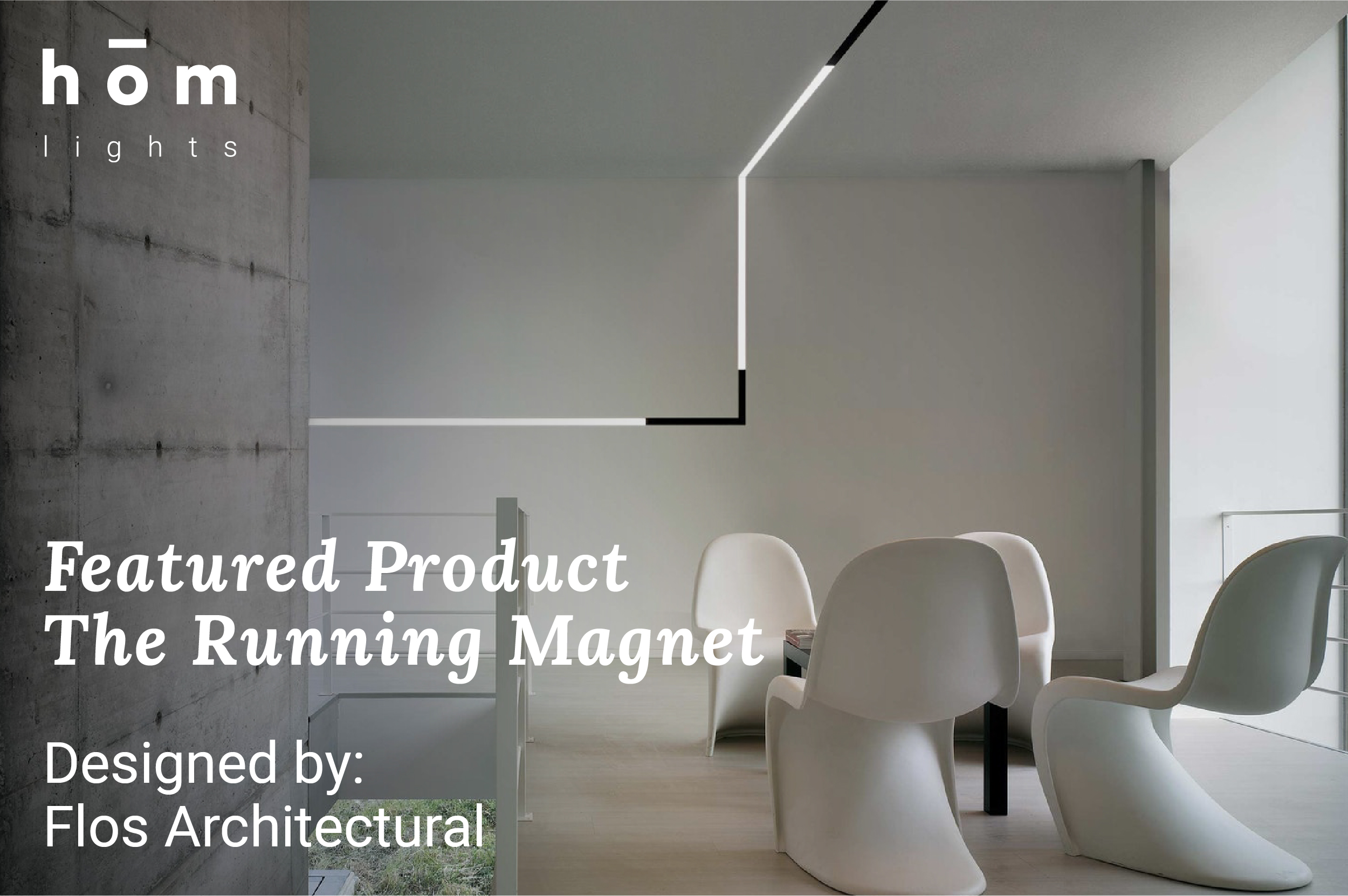 The Running Magnet by Flos available at hom interiors Kuwait - www.homkw.com